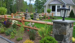 Landscaping with Wood Fence and Stone Posts - Tips for Finding a Good Landscaping Company