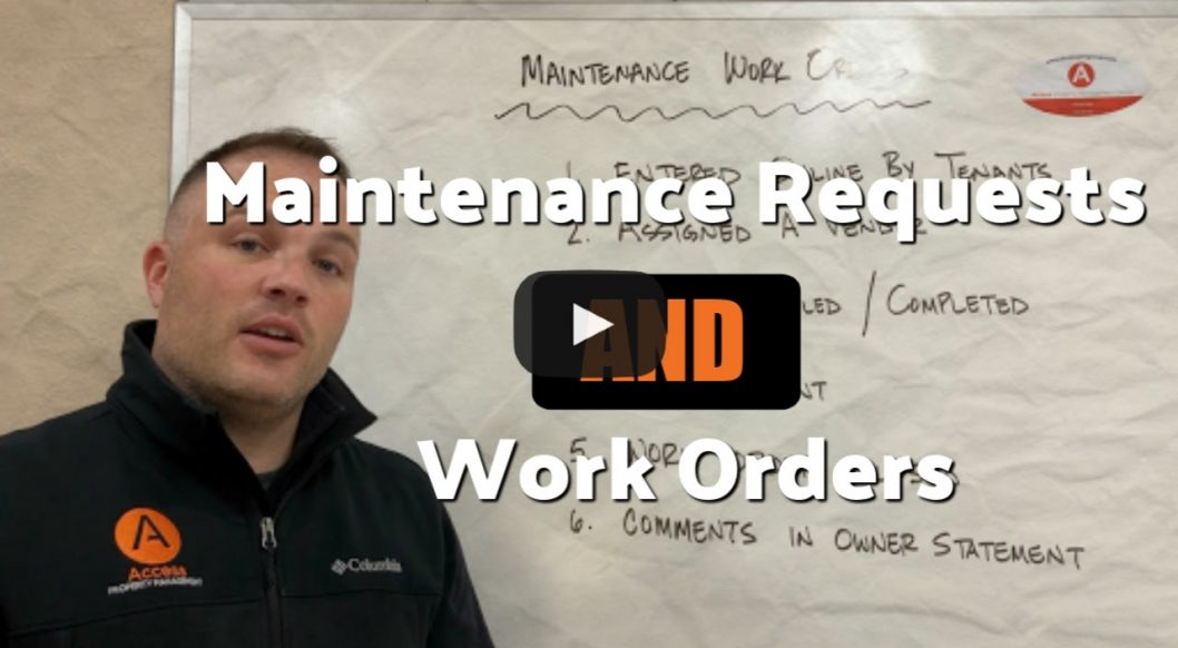 Our Services: Maintenance Requests or Work Orders