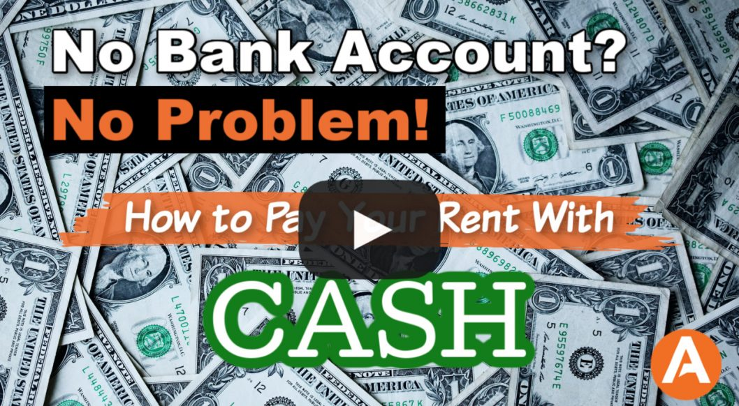 No Bank Account? No Problem! How to Pay Rent With Cash Title Image